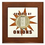 Powered by Onions Framed Tile