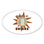 Powered by Onions Oval Sticker (10 pk)