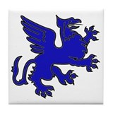 Blue Griffin Tile Coaster