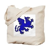 Blue Griffin Tote Bag