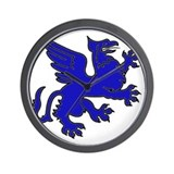 Blue Griffin Wall Clock