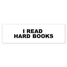 Hard Books Bumper Sticker (10 pk)