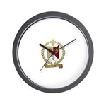 ROCHE Family Crest Wall Clock