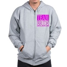 Team Bride -- Wedding Day Zip Hoodie