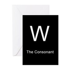 W The Consonant Greeting Cards (Pk of 10)