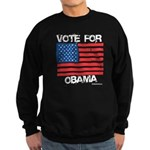 Vote for Obama Sweatshirt (dark)