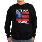 Vote for Obama Sweatshirt (dark)