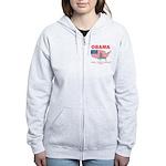 Obama for President Women's Zip Hoodie