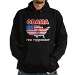 Obama for President Hoodie (dark)