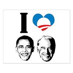 I Love Obama Biden Small Poster