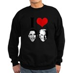 I Heart Obama Biden Sweatshirt (dark)