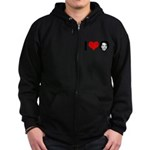 I Heart Michelle Obama Zip Hoodie (dark)