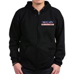 MCCAIN for President Zip Hoodie (dark)