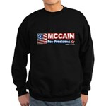MCCAIN for President Sweatshirt (dark)