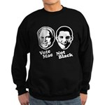 Vote Mac Not Black Sweatshirt (dark)