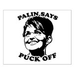 Palin says Puck Off Small Poster