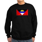 Antigua Barbuda Blank Flag Sweatshirt (dark)