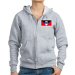 Antigua Barbuda Blank Flag Women's Zip Hoodie