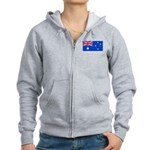 Australia Blank Flag Women's Zip Hoodie