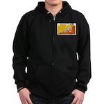 Bhutan Flag Zip Hoodie (dark)