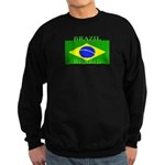 Brazil Brazilian Flag Sweatshirt (dark)