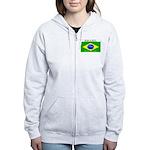 Brazil Brazilian Flag Women's Zip Hoodie