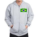Brazil Brazilian Flag Zip Hoodie