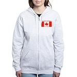Canada Canadian Flag Women's Zip Hoodie