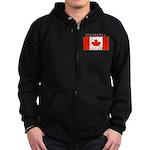 Canada Canadian Flag Zip Hoodie (dark)