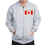 Canada Canadian Flag Zip Hoodie