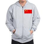 China Chinese Blank Flag Zip Hoodie