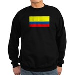 Colombia Colombian Blank Flag Sweatshirt (dark)