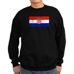 Croatia Blank Flag Sweatshirt (dark)