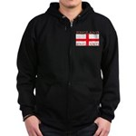 England English St George Fla Zip Hoodie (dark)