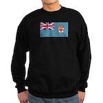 Fiji Fijian Blank Flag Sweatshirt (dark)