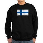 Finland Finish Blank Flag Sweatshirt (dark)