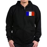 Gasquet France Flag Zip Hoodie (dark)