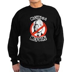 McCain is a McPain Sweatshirt (dark)