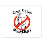 Retire Senator McAncient Small Poster