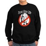 Anti-McCain: Just say no Sweatshirt (dark)