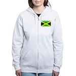 Jamaica Jamaican Flag Women's Zip Hoodie