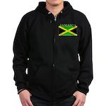 Jamaica Jamaican Flag Zip Hoodie (dark)