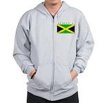 Jamaica Jamaican Flag Zip Hoodie