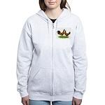 Gold Brabanter Chickens Women's Zip Hoodie