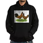 Gold Brabanter Chickens Hoodie (dark)