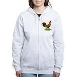 Gold Brabanter Rooster Women's Zip Hoodie