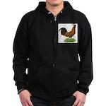 Gold Brabanter Rooster Zip Hoodie (dark)