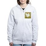 Cornish/Rock Cross Hen Women's Zip Hoodie