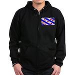 Friesland Frisian Flag Zip Hoodie (dark)