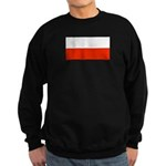 Poland Polish Blank Flag Sweatshirt (dark)